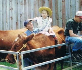 Martha riding Van at Garfield Farm